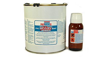 Inflatable Boat PVC Adhesive, 2 Part, 1 Litre.